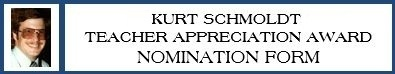 Nominate a teacher for the Schmoldt Appreciation Award