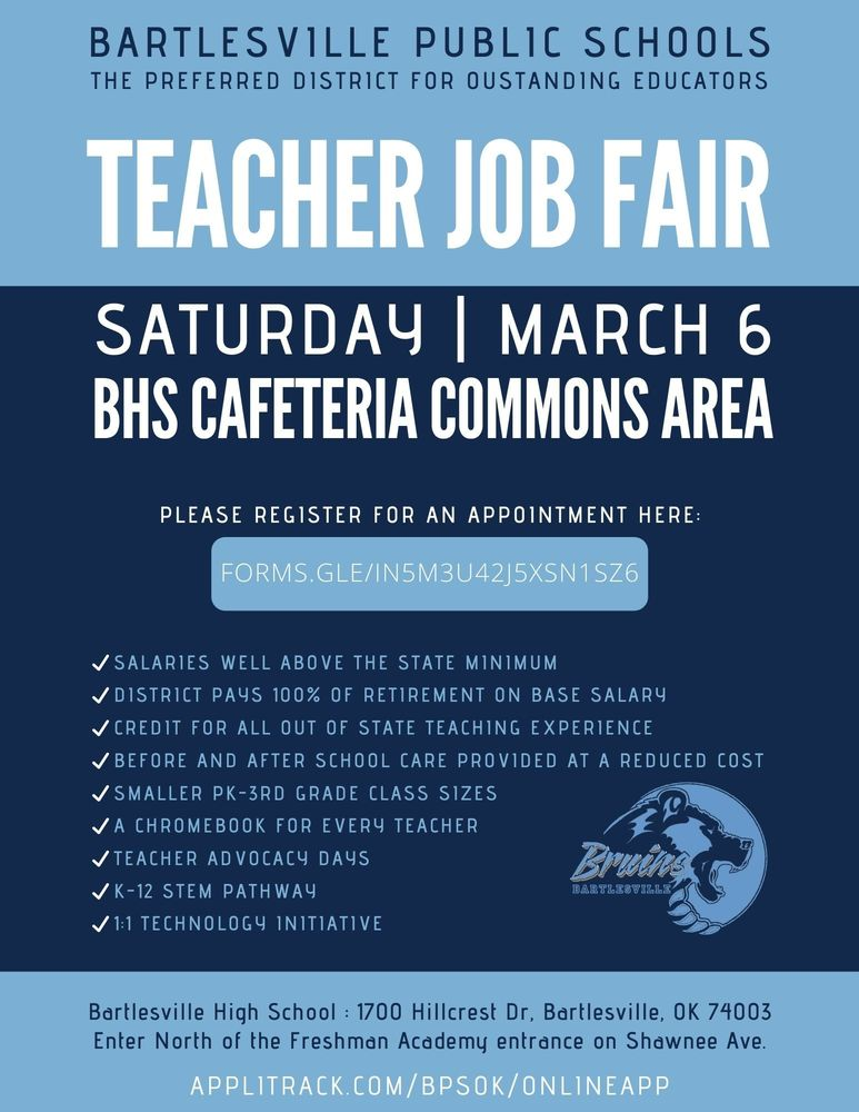 Teacher Job Fair on Saturday, March 6, 2021