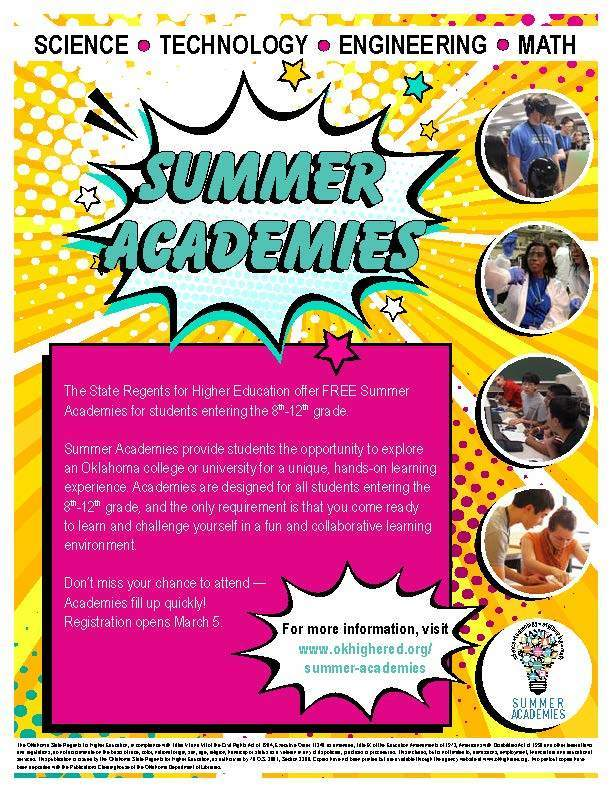 Applications Open for Summer Academies