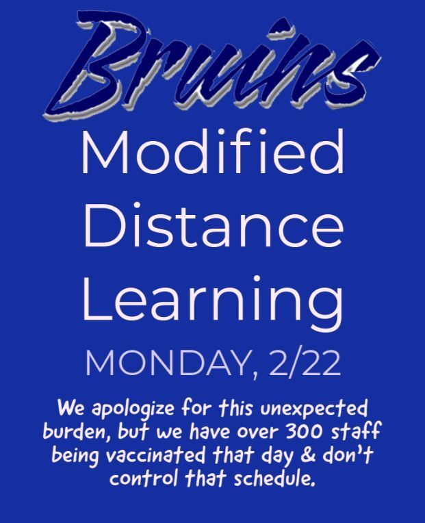 Distance Learning on Monday, 2/22