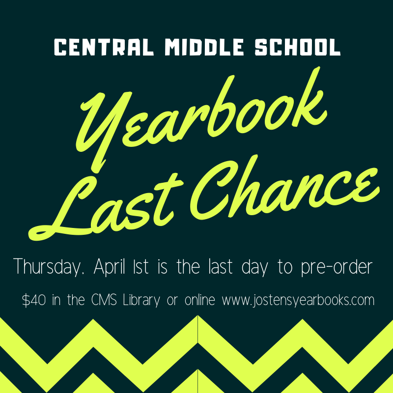 Yearbook Last Chance - April 1st