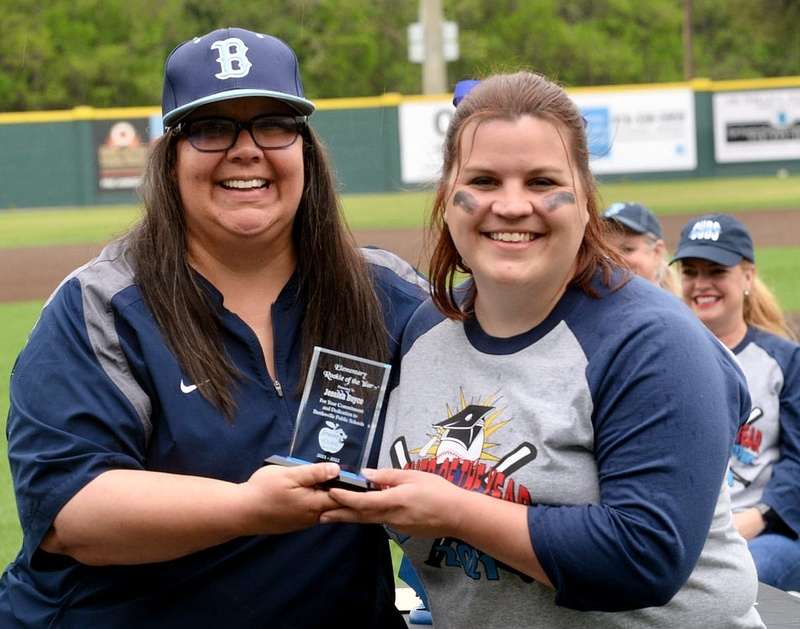 Jessica Boyce, Elementary Rookie of the Year (right)